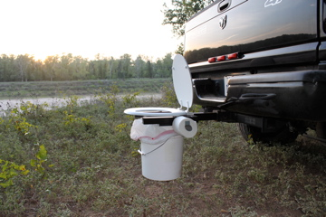 Portable Camping Toilet : Camping toilet bumper dumper portable toilet hunting toilet